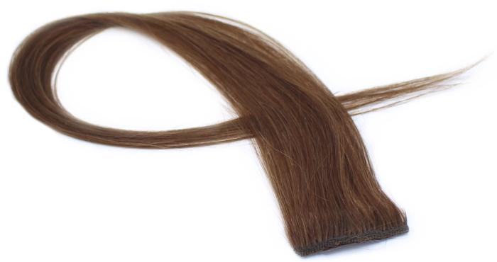 Clip in pramínek z lidských vlasů